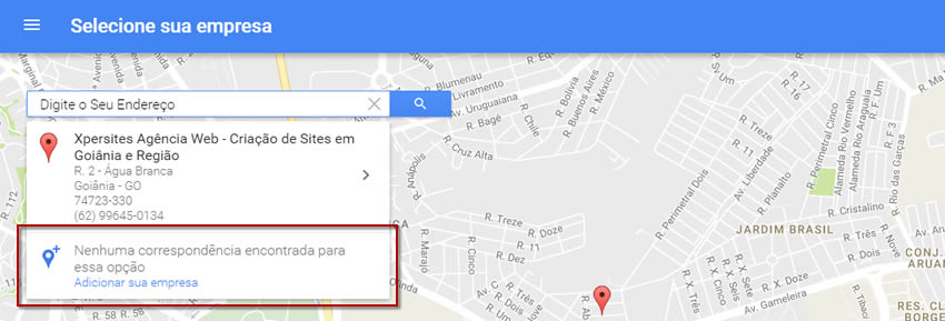 Colocar Empresa no Google