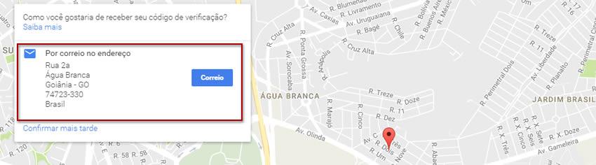 Confirmação para inserir empresa no Google Maps